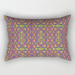 Stained Glass Patterned Zentangle Drawing Rectangular Pillow