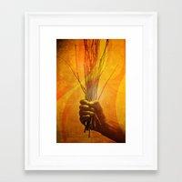 prometheus Framed Art Prints featuring Prometheus by Damien Saillet