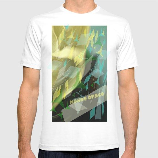 Opaque world: garment in the air. T-shirt