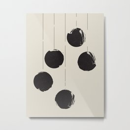 910 // Mid Century Dot Hang Metal Print