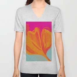The Abstract Fire Flora Unisex V-Neck