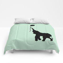 Elephant with Balloon - Mint Comforters