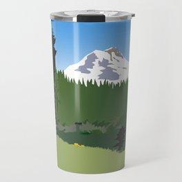 Mt Hood Meadows Hike Travel Mug