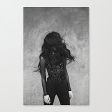 Black wind Canvas Print