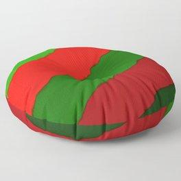 Bright Christmas Diagonal Stripes Floor Pillow