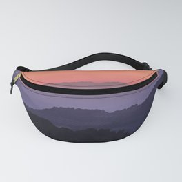 Purple sunset at the mountains. Last night Fanny Pack