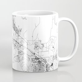 Darwin White Map Coffee Mug
