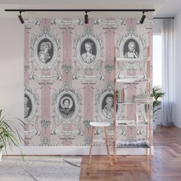 Science Women Toile de Jouy - Pink Wall Mural