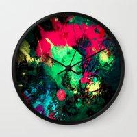 splash Wall Clocks featuring Splash by RIZA PEKER