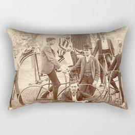 1880 Brown University High Wheel Bicycle Club, East Side, Providence, Rhode Island Rectangular Pillow