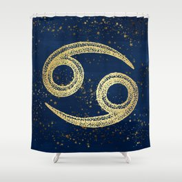 Cancer Zodiac Sign Shower Curtain