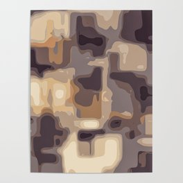 grey and brown square pattern abstract background Poster