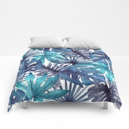 Blue Tropical Comforters