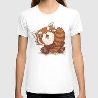 red panda T-shirts featuring Panda by Toru Sanogawa