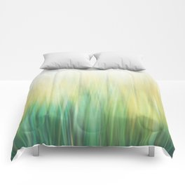 Grass abstract Comforters