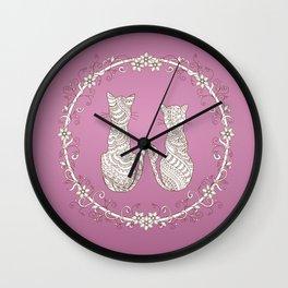lovely cats Wall Clock
