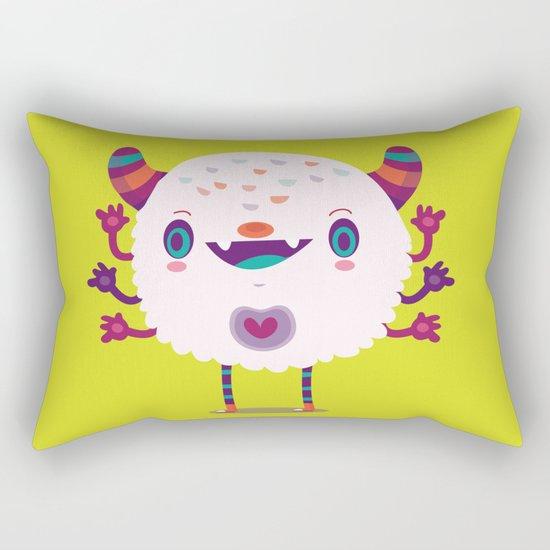 Puffy monster Rectangular Pillow