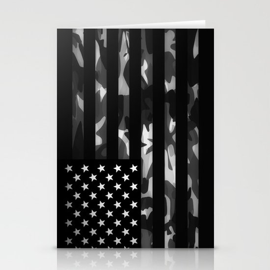 American camouflage Stationery Cards