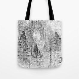 The invert image of jungle trees scene Tote Bag