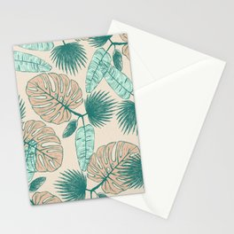 Tropical Leaves I Stationery Cards