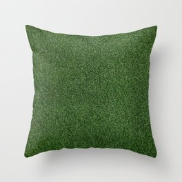 Bright Lush Green Grass Throw Pillow
