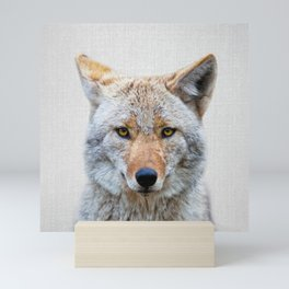 Coyote - Colorful Mini Art Print