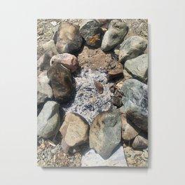 Fire Pit Remains Metal Print