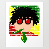 reggae Art Prints featuring Reggae Kazoo by mailboxdisco