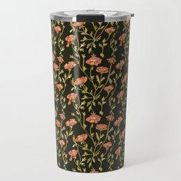 Dark Botanical Pattern Travel Mug