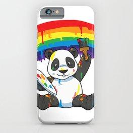Panda Pride Gay Lesbian Queer LGBT Rainbow Flag LGBTQA+ T-Shirt iPhone Case