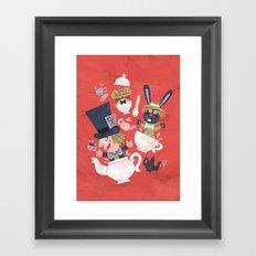 Mad Hatter's Tea Party - Alice in Wonderland Framed Art Print
