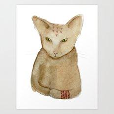 Totem Kitteh 1 Art Print