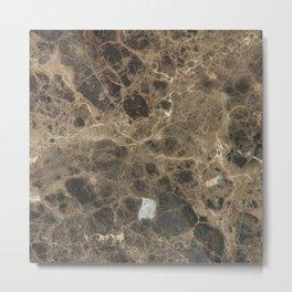 Brown Vein Marble Print Home Decor Metal Print