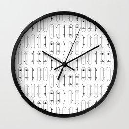 Skateboard Black Lines Wall Clock