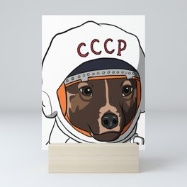 The first dog in space Laika Mini Art Print