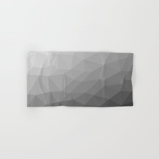 Grey Gradient Geometric Mesh Hand & Bath Towel