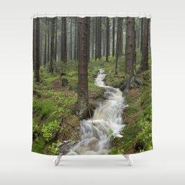 Water always flows downhill Shower Curtain