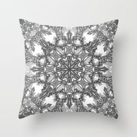 snowflake Throw Pillows featuring Snowflake   by ArtLovePassion