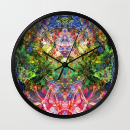 Floral Diving Wall Clock