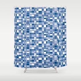 Mod Gingham - Blue Shower Curtain