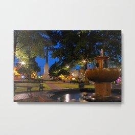 Morning Fountain Metal Print