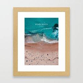 Bondi Beach, Sydney Travel Artwork Framed Art Print