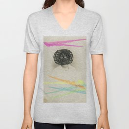 Led Contrast Unisex V-Neck