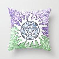 supernatural Throw Pillows featuring Supernatural by Beastie Toyz