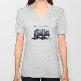 Rinoceros Unisex V-Neck