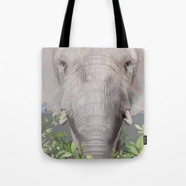 Foraging Elephant Tote Bag