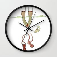 socks Wall Clocks featuring Socks by AnnaCas