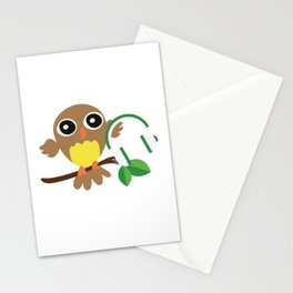 Owls Music Lovers Musicians Nocturnal Birds Night Hunter Animals Wildlife Wilderness Gift Stationery Cards