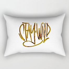 Stay Wild, Stay Golden. Rectangular Pillow