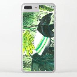 Sleepy head Malayan Tapir Clear iPhone Case
